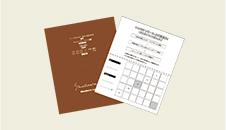 ポイントカード(2つ折り)両面4色